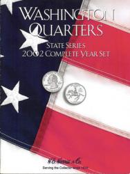 HE Harris Folder 2585: Complete Year Set Quarters, 2002