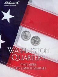 HE Harris Folder 2591: Complete Year Set Quarters, 2008