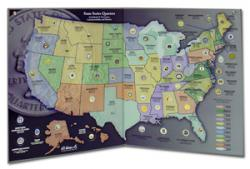HE Harris State Series Quarters Collectors Map
