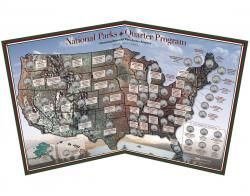 Coins of America National Park Quarters Map
