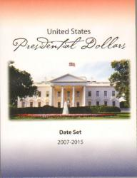 HECO Presidential Dollar Date Set Folder 2007-2015