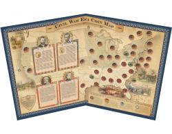 Coins of America U.S. Civil War Coin Map