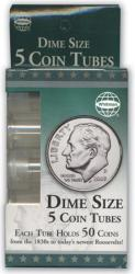 Harris Dime Tubes -- Retail Pack of 5