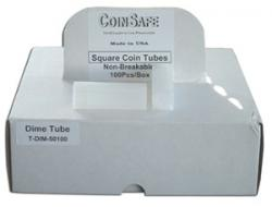 Coin Safe Square Tubes, Dime Size