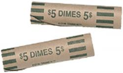 Preformed Coin Wrappers - Dime Size
