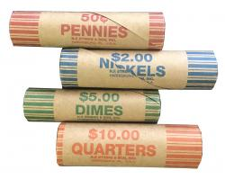 Preformed Coin Wrappers - Assortment