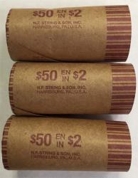 Preformed Coin Wrappers - Canada Two Dollar (Twoonie) Size