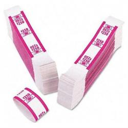 SecureIT Currency Bands -- $250 -- Cerise -- Bundle of 1000