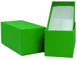 Color Coded Single Row Mini 2x2 Box (Green/Dime)