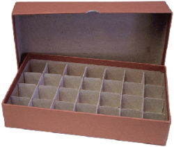 Half Dollar Tube Storage Box (Brown)