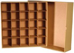 Large Dollar Tube Storage Box (Tan)