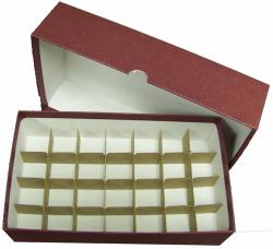Small Dollar Tube Storage Box (Maroon)