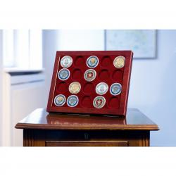 Lighthouse Mahogany Style Slab Frame -- 20 Challenge Coins
