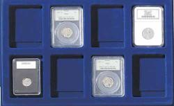 Lighthouse Blue Coin Tray -- 8 Slab Spaces -- 64x86mm (Set of 2)