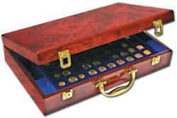 Burlwood Premium Coin Carrying Case for Slabs -- 32 Slabs