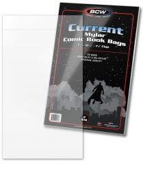 BCW Current Mylar Comic Book Bags (2 mil) -- Pack of 50