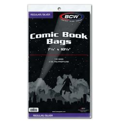 BCW Regular/Silver Comic Book Bags
