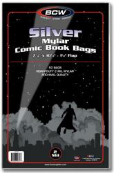 BCW Silver Mylar Comic Book Bags (2 mil) -- Pack of 50