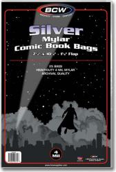 BCW Silver Mylar Comic Book Bags (4 mil) -- Pack of 25