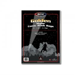 BCW Golden Mylar Comic Book Bags (4 mil) -- Pack of 25