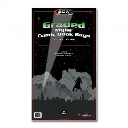 BCW Mylar Graded Comic Book Bags (2 mil) -- Pack of 25