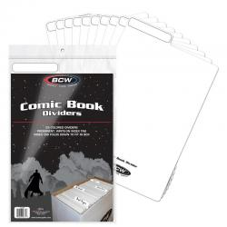 BCW Comic Book Dividers -- Pack of 25 -- White