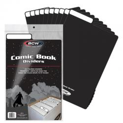 BCW Comic Book Dividers -- Pack of 25 -- Black