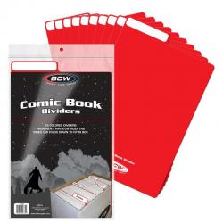 BCW Comic Book Dividers -- Pack of 25 -- Red