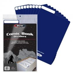 BCW Comic Book Dividers -- Pack of 25 -- Blue