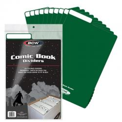 BCW Comic Book Dividers -- Pack of 25 -- Green