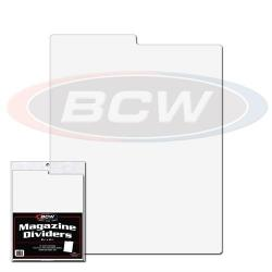 BCW Magazine Dividers -- Pack of 25 -- White