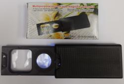 Multi-Purpose Pull-Out Magnifier with LED, 5X-45X