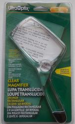 UltraOptix 2x4 Rectangular Clear Magnifier, 2X/6X