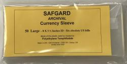 Safgard Currency Sleeves - Large