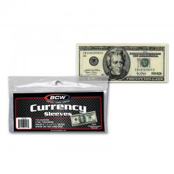 BCW Ultra Thin Currency Sleeves -- Modern Size -- Pack of 100
