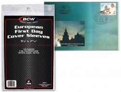BCW Ultra Thin Sleeves -- European First Day Cover -- Pack of 100