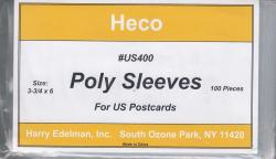 HECO Poly Philatelic Sleeves -- US Post Cards