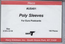 HECO Poly Philatelic Sleeves -- Euro Post Cards