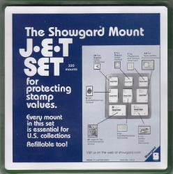 "Showgard Stamp Mounts ""JET Set"": US2 (8 Sizes in Tray)"