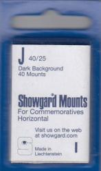 Showgard Stamp Mounts: J (40/25)
