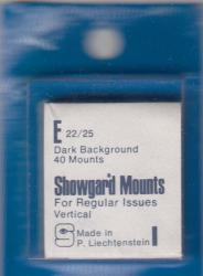Showgard Stamp Mounts: E (22/25)