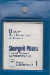 Showgard Stamp Mounts: U (33/27)