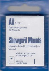 Showgard Stamp Mounts: AV (31/41)
