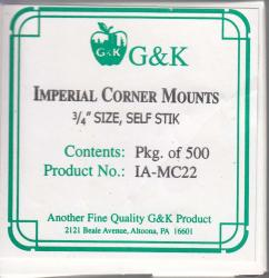 G&K Imperial Mounting Corners -- 3/4 x 3/4