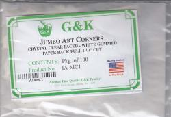 G&K Imperial Jumbo Art Mounting Corners