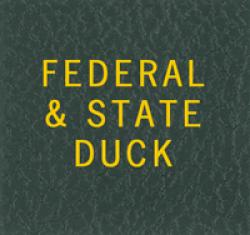 Scott National Series Green Binder Label: Federal & State Duck