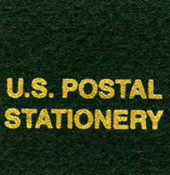 Scott National Series Green Binder Label: US Postal Stationery