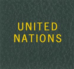 Scott National Series Green Binder Label: United Nations
