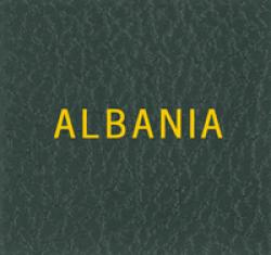 Scott Specialty Series Green Binder Label: Albania