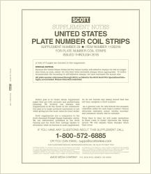 Scott Stamp Album Supplement -- US (Simplified) Plate Number Coil Strips